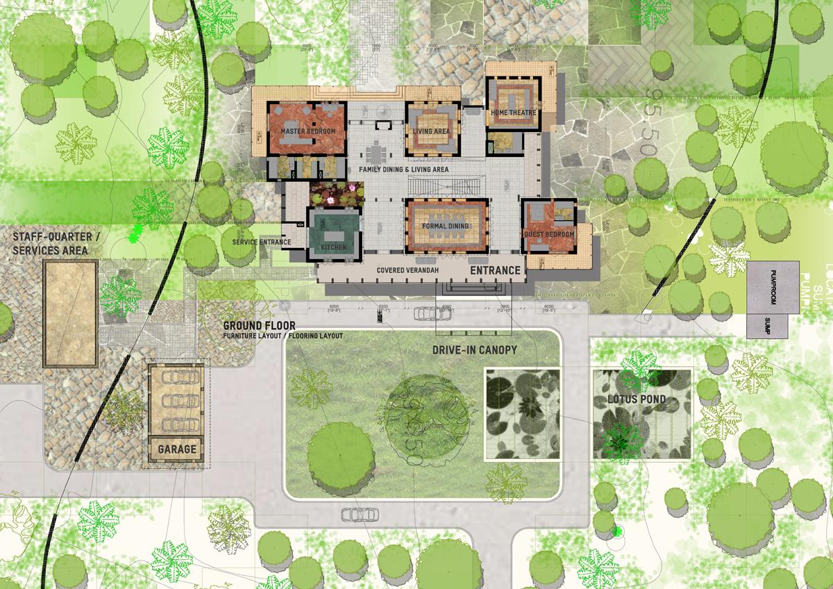Farmhouse near bangalore update 01 white ant studio for House site plan
