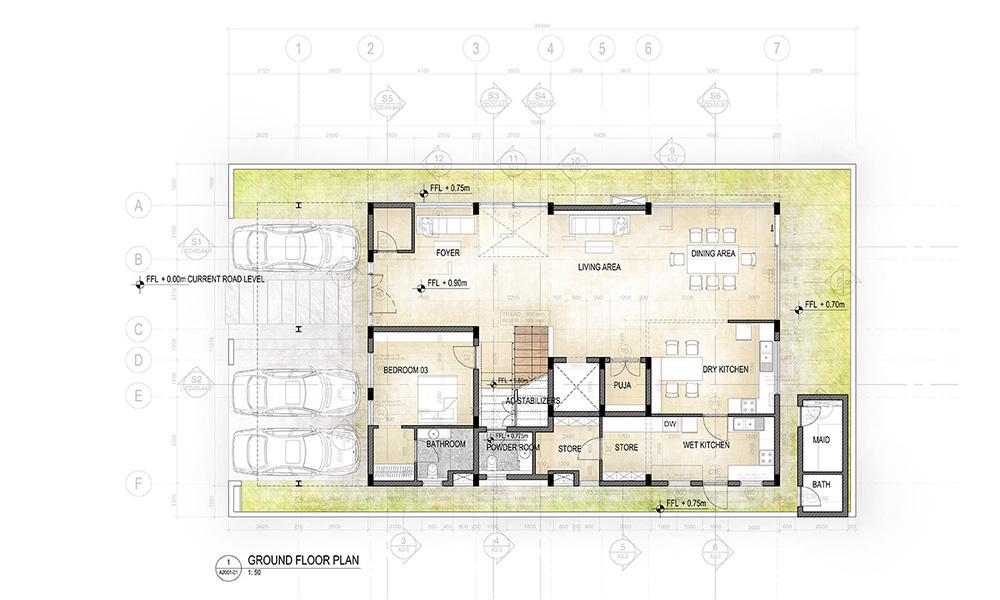 Foyer City Floor Plan : Current project city house render images floor plans