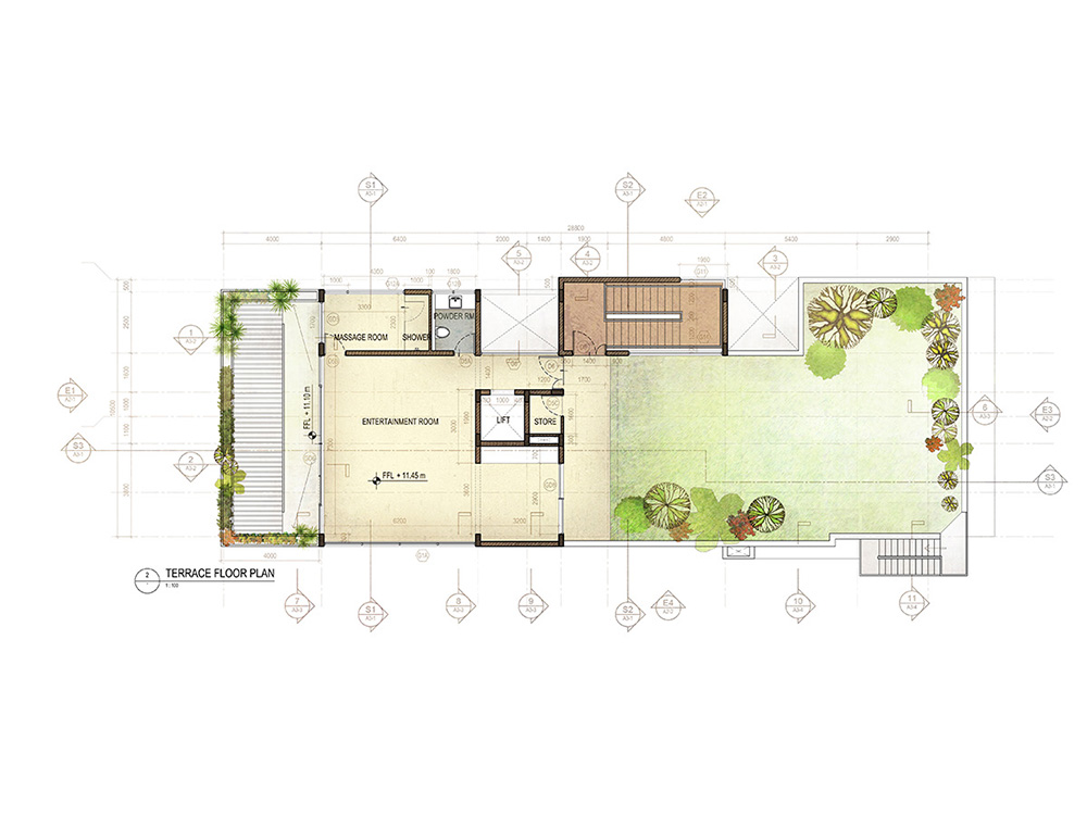House in poe s garden chennai rendered floor plans and for Garden home floor plans