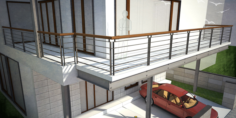 The railing design: Each design topic is explored in depth; here the ...